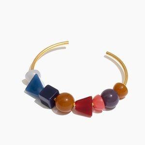 Madewell Geometric Stack Cuff Bracelet